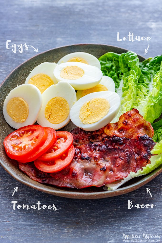 BLT Egg Sliders Ingredients