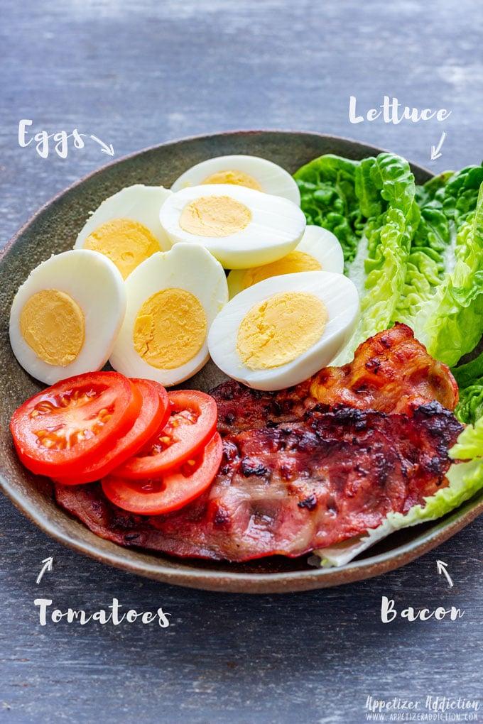 BLT Egg Sliders Ingredients