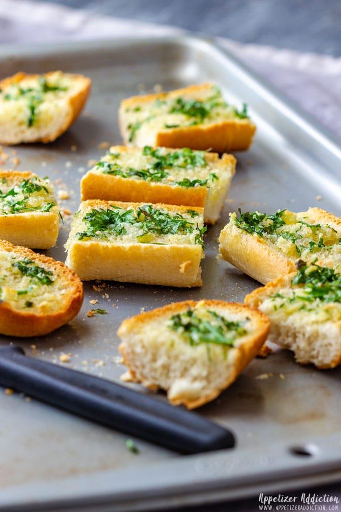 Homemade Garlic Bread Recipe Appetizer Addiction