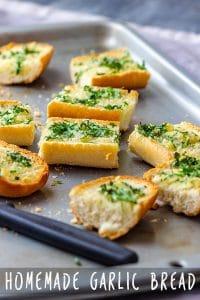 Homemade Garlic Bread Pin