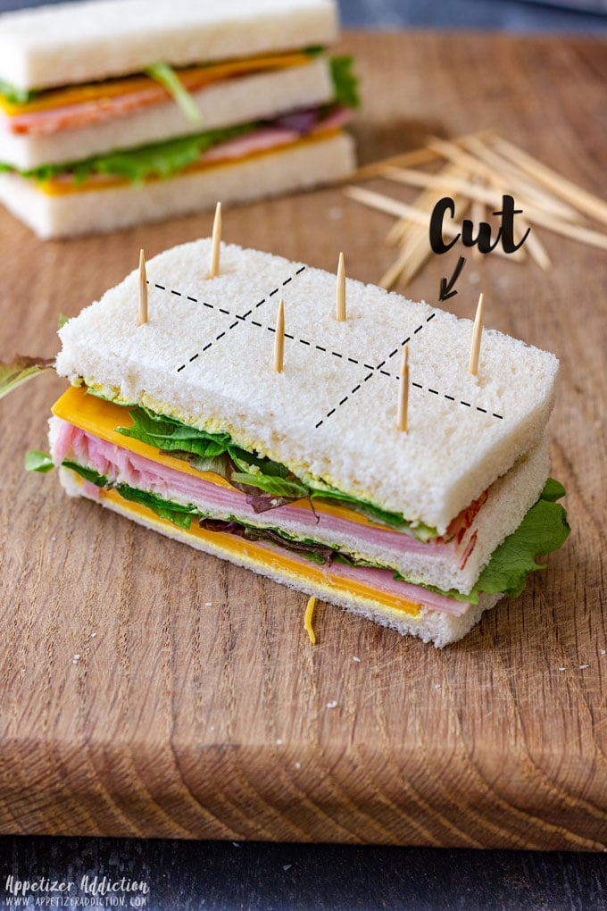 How to Cut Mini Sandwiches