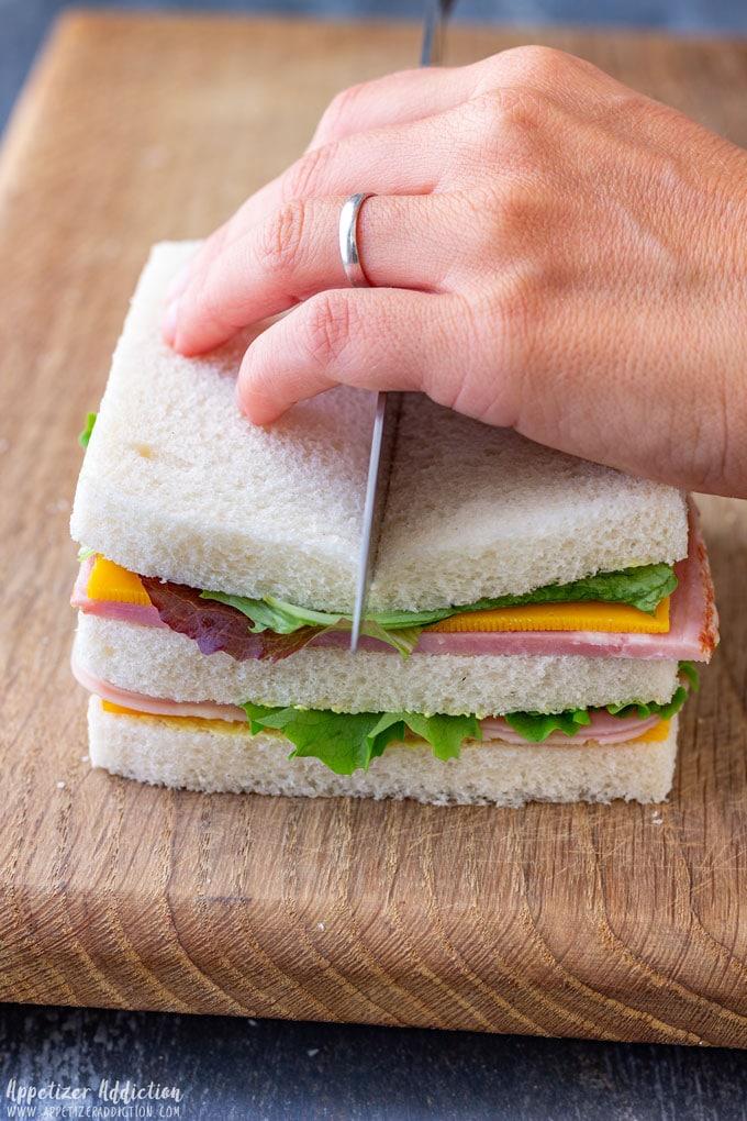 Cutting Mini Sandwiches