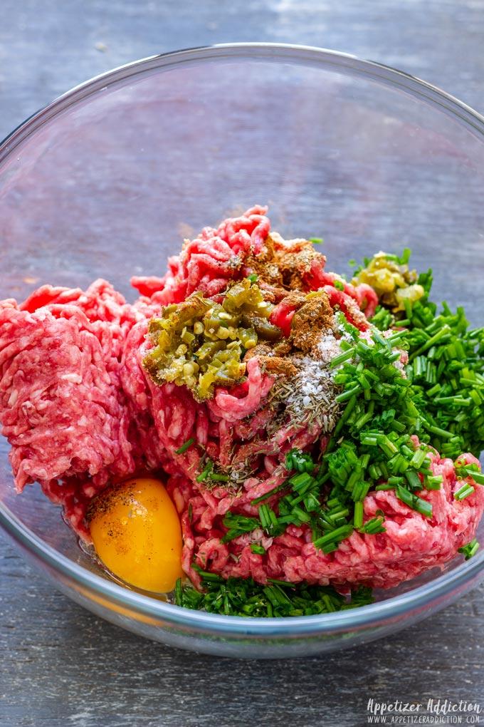 Meatballs Mixture in Bowl