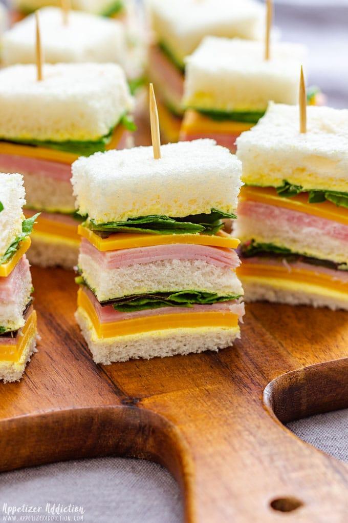 Mini Ham & Cheese Sandwiches