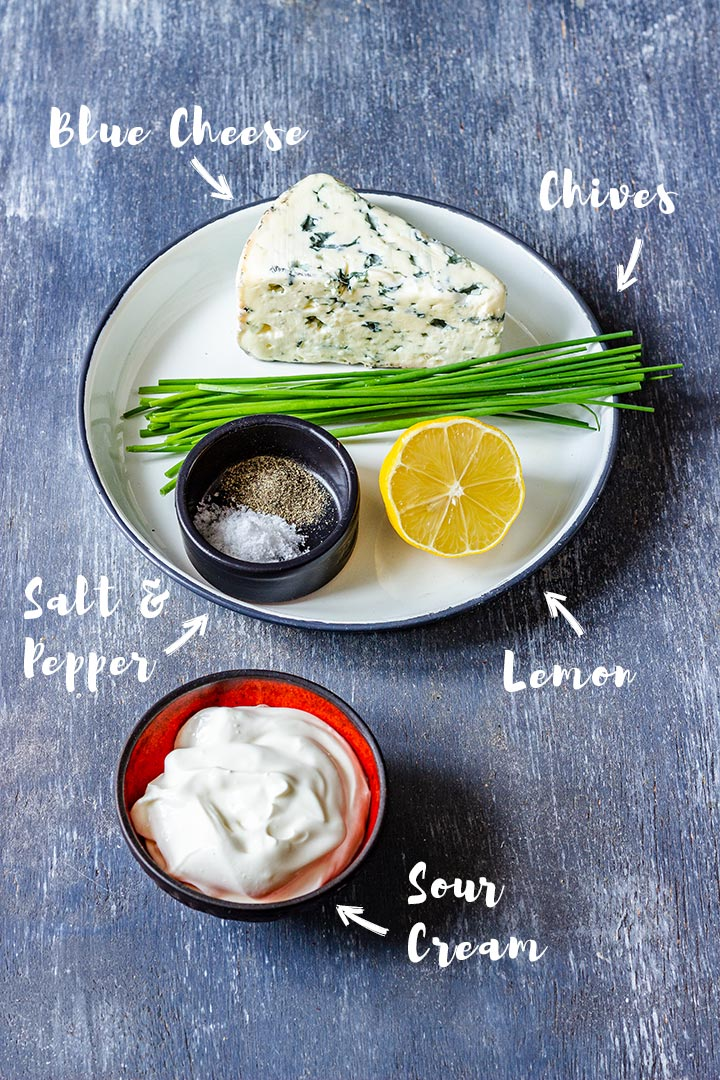 Ingredients of Blue Cheese Dip