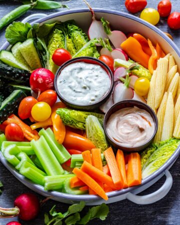 Homemade French Crudite Platter