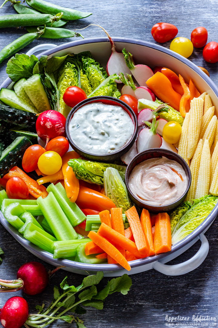 Crudite Platter (How to Make a French Vegetable Platter)