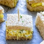 Mini Egg Salad Sandwiches Pin