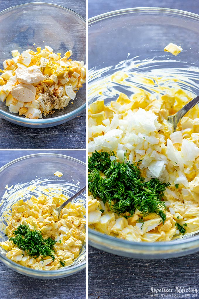 How to make Egg Salad Sandwiches Filling