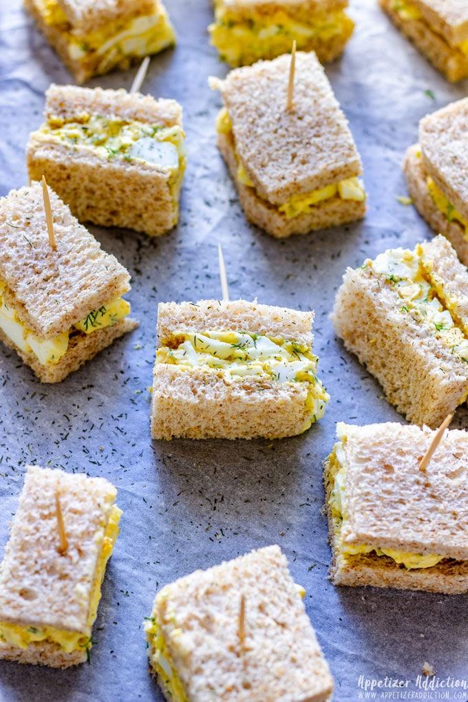 Mini Egg Salad Sandwiches