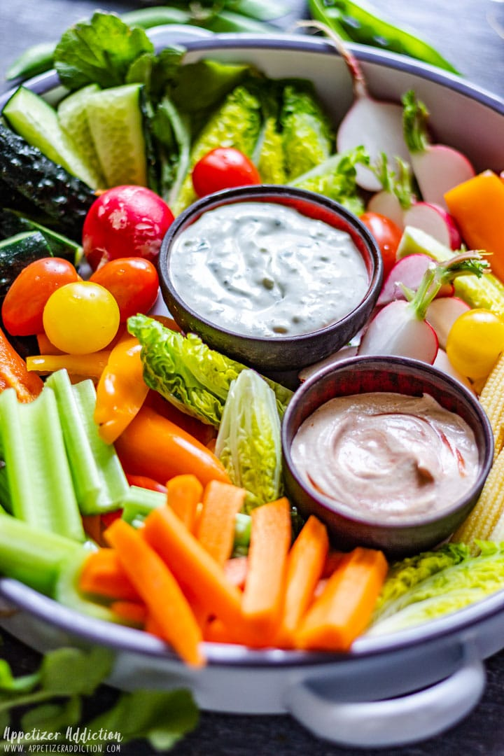 Vegetable Crudite Platter with Tipping Sauces