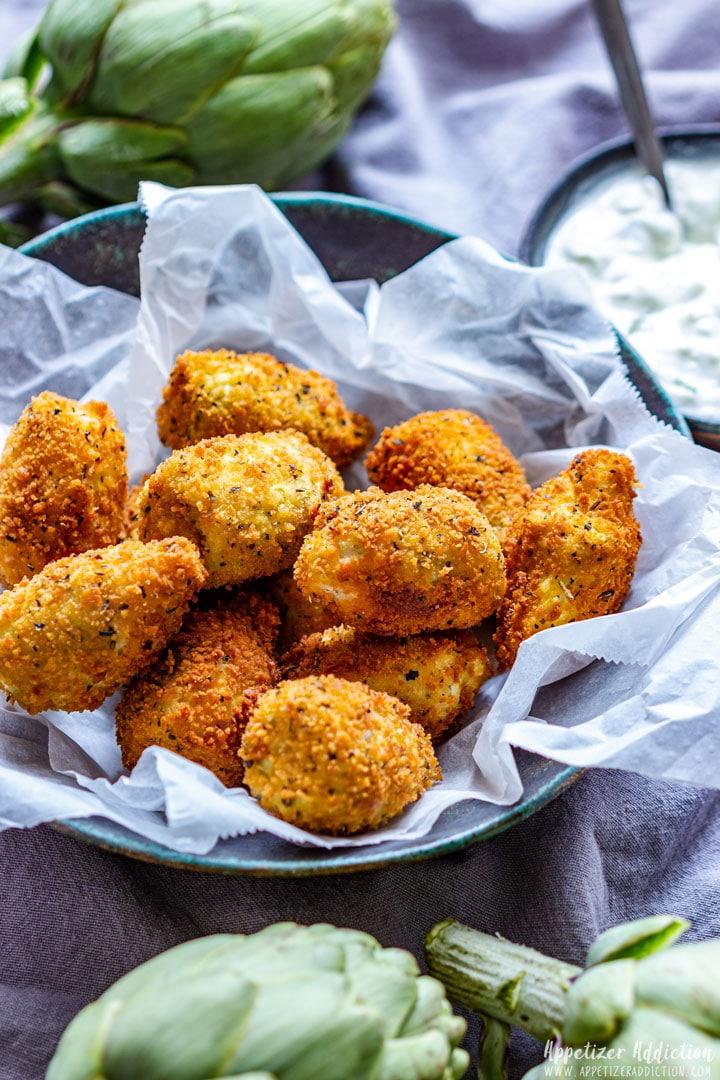 Homemade Breaded Artichoke Hearts