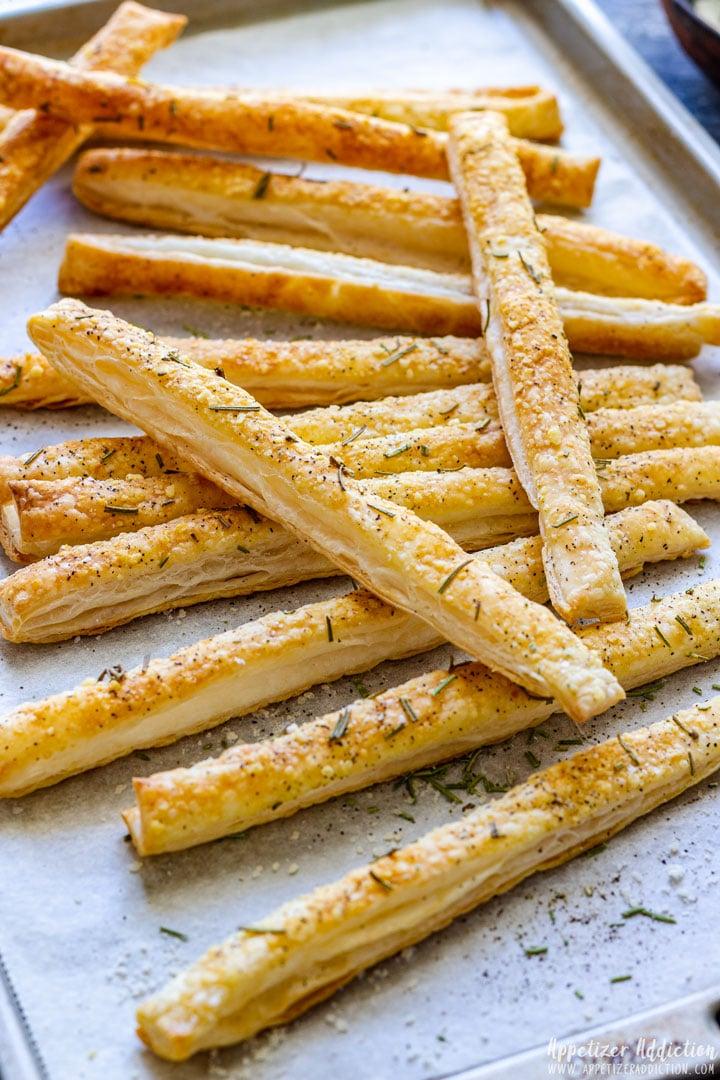 Homemade Puff Pastry Breadsticks