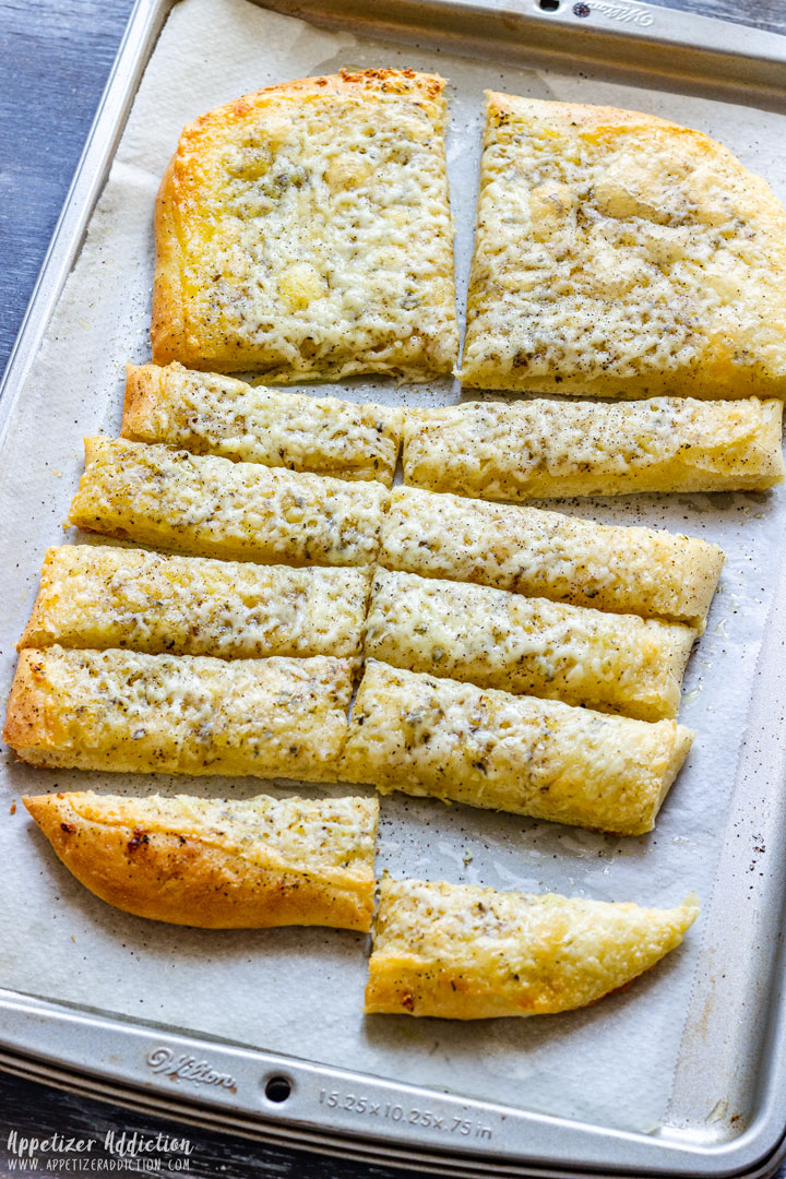 Freshly Baked Pizza Dough Breadsticks