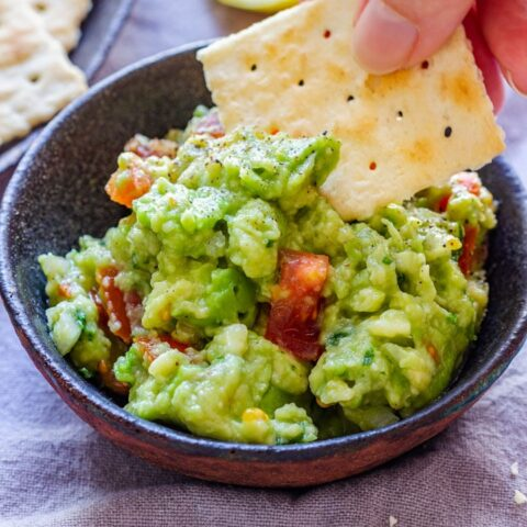 Eating Homemade Guacamole