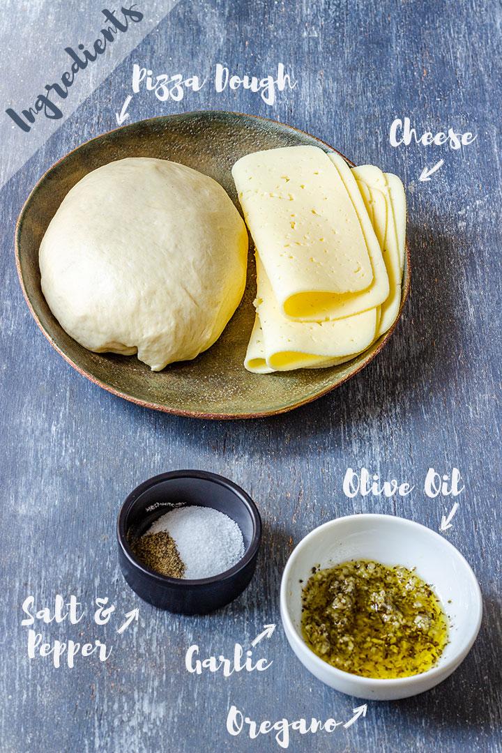 Ingredients of Pizza Dough Breadsticks