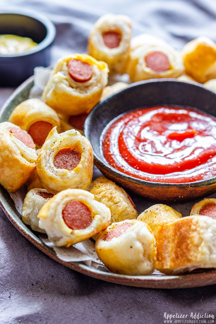 Puff Pastry Mini Pigs in a Blanket