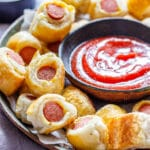 Puff Pastry Mini Pigs in a Blanket pin