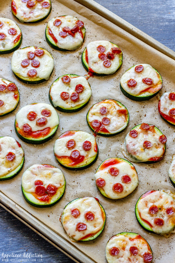 Baked Zucchini Pizzas