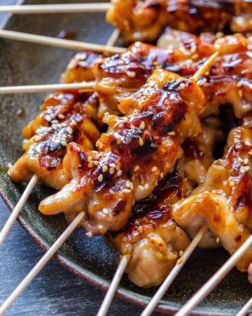 Best Teriyaki Chicken Skewers
