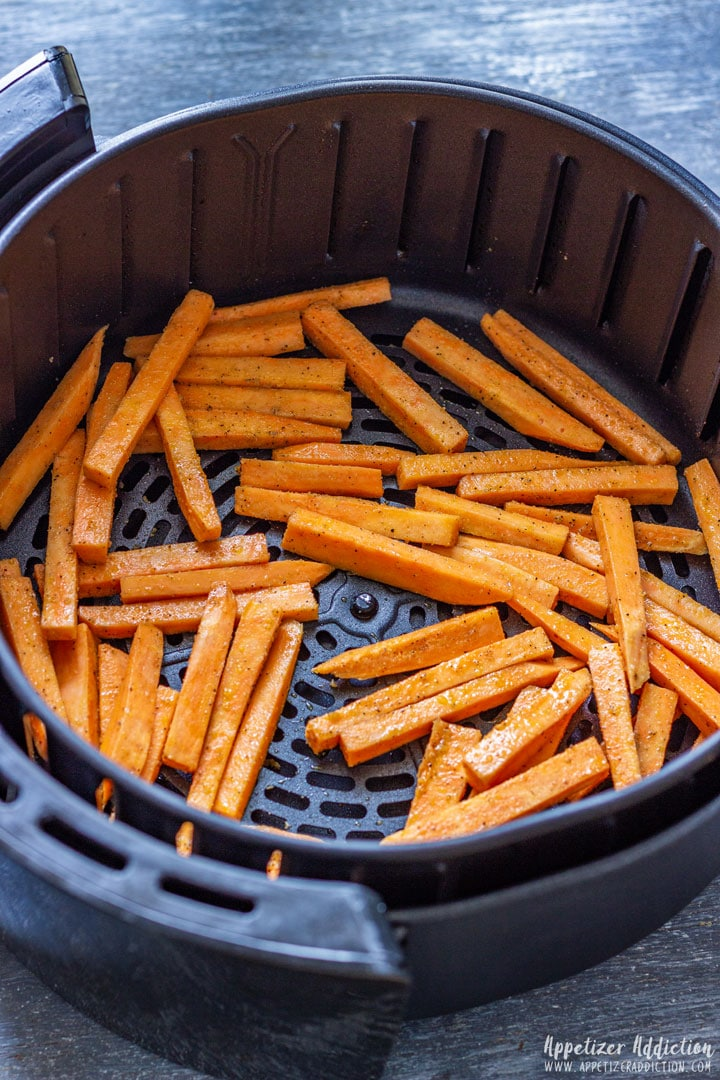 Sweet Potato Fries cooked in the air fryer