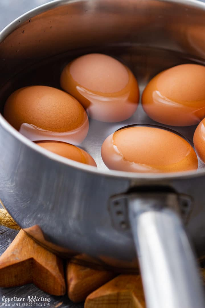 Boiling eggs for making deviled eggs