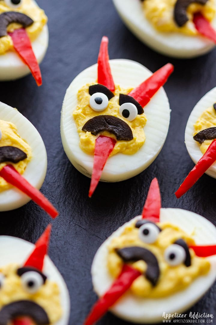 Deviled eggs for Halloween party