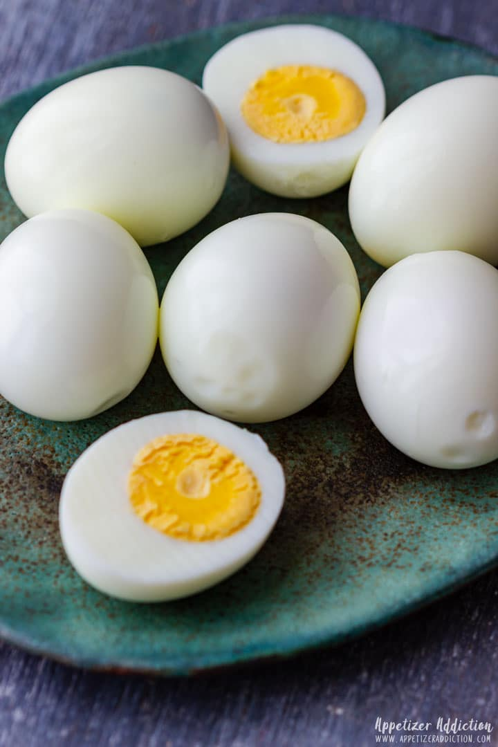 Hard boiled eggs for deviled eggs recipe