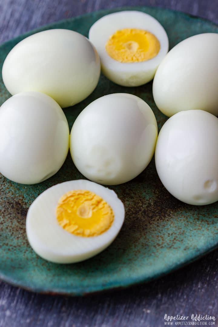 Hard boiled eggs for deviled eggs recipe