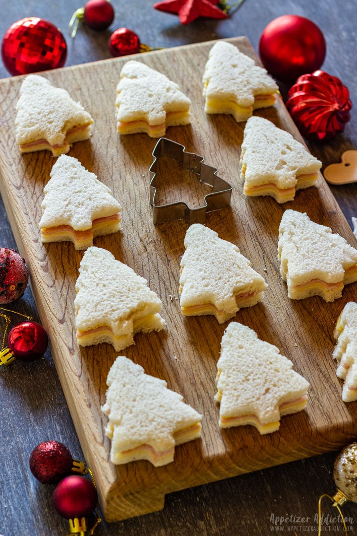 Christmas party sandwiches