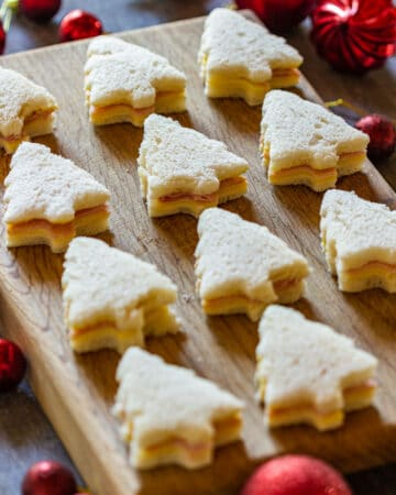Christmas tree sandwiches for Holidays