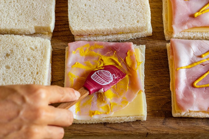 How to make Christmas tree sandwiches step 3