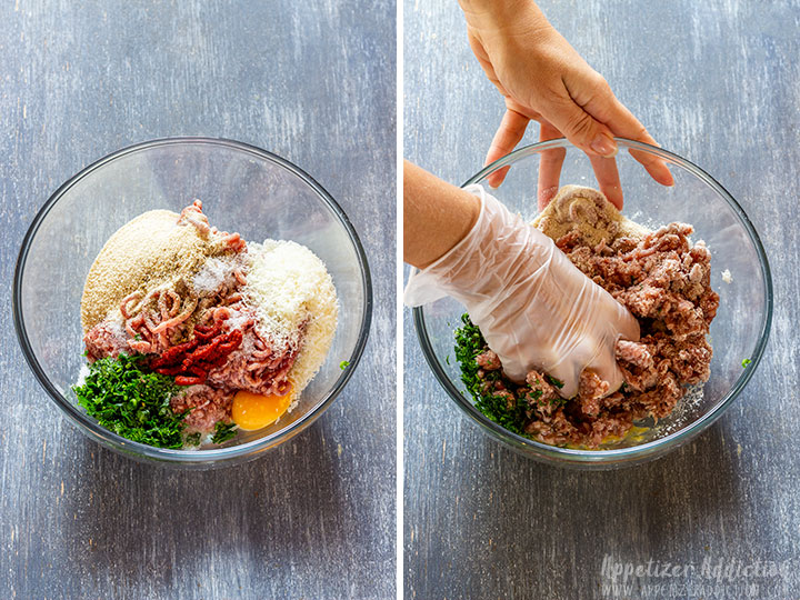 Making cranberry meatballs step 1