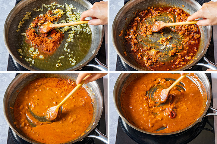 Making patatas bravas sauce from scratch