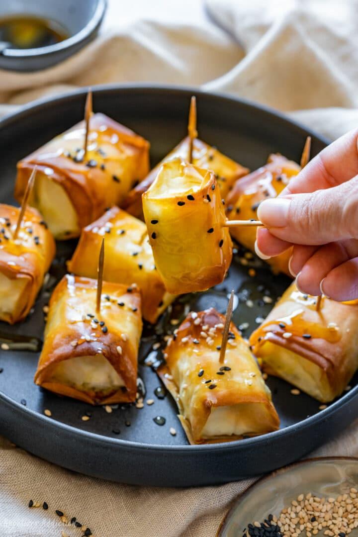 Baked feta bites recipe